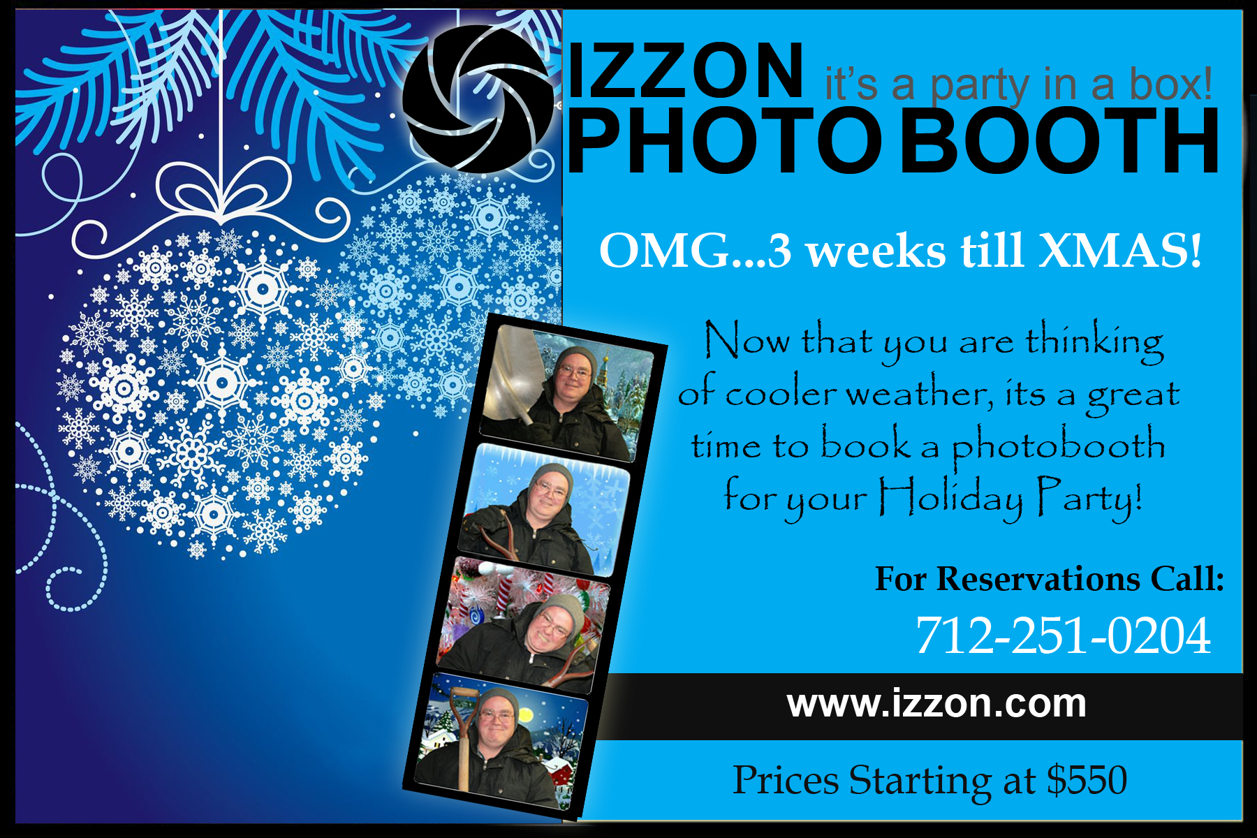 3 weeks until xmas book the izzon photobooth for your holiday party izzonpostcard 3 weeks til christmas - How Much Time Till Christmas