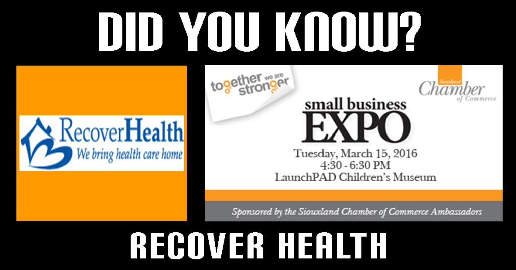 connect with recover health at the 2016 small business expo