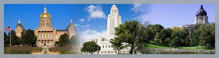 Iowa Nebraska South Dakota Capitols