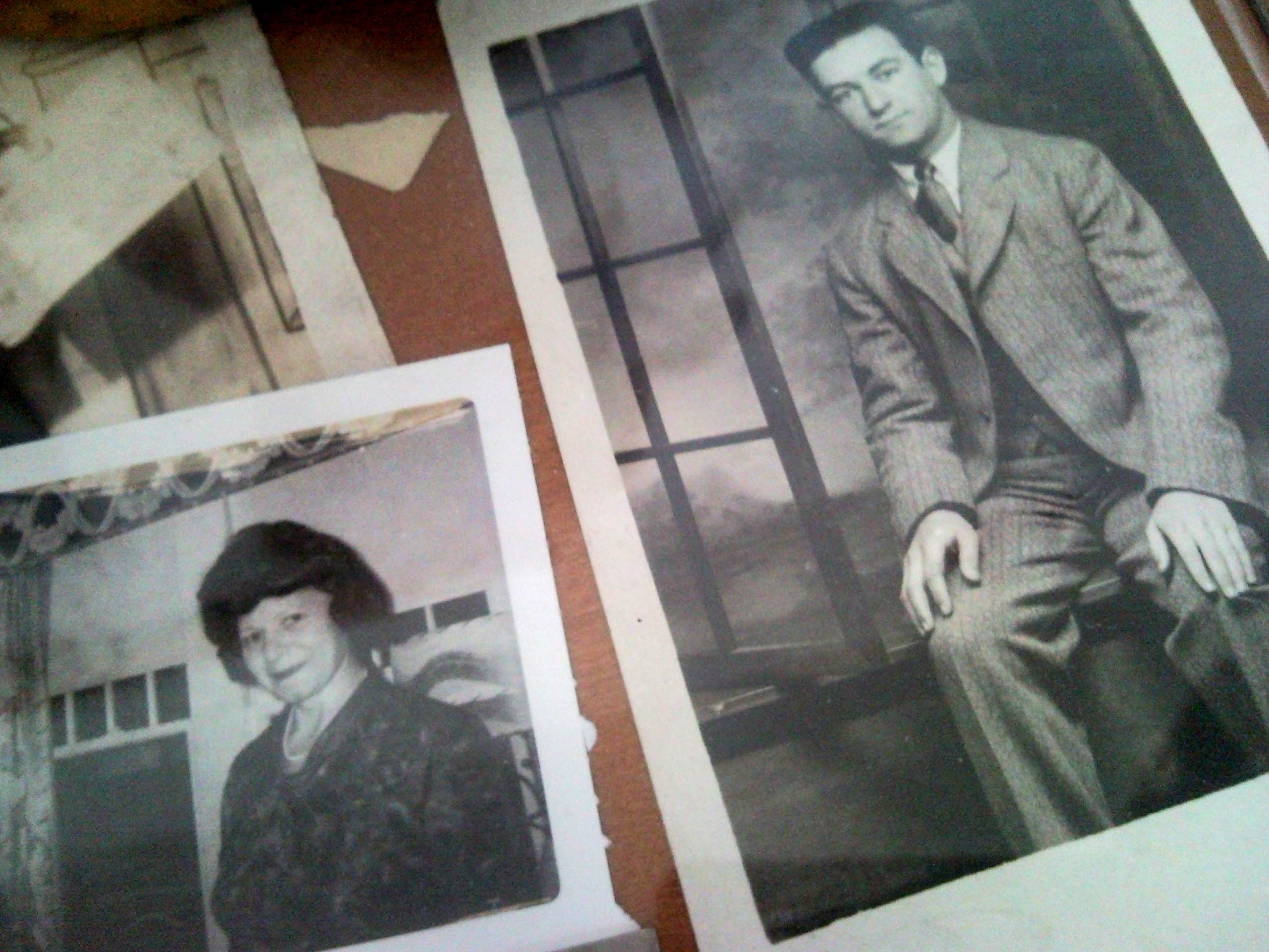 Northern Hills Assited Living Resident Frances Lelchook shares family photographs of her late husband and herself