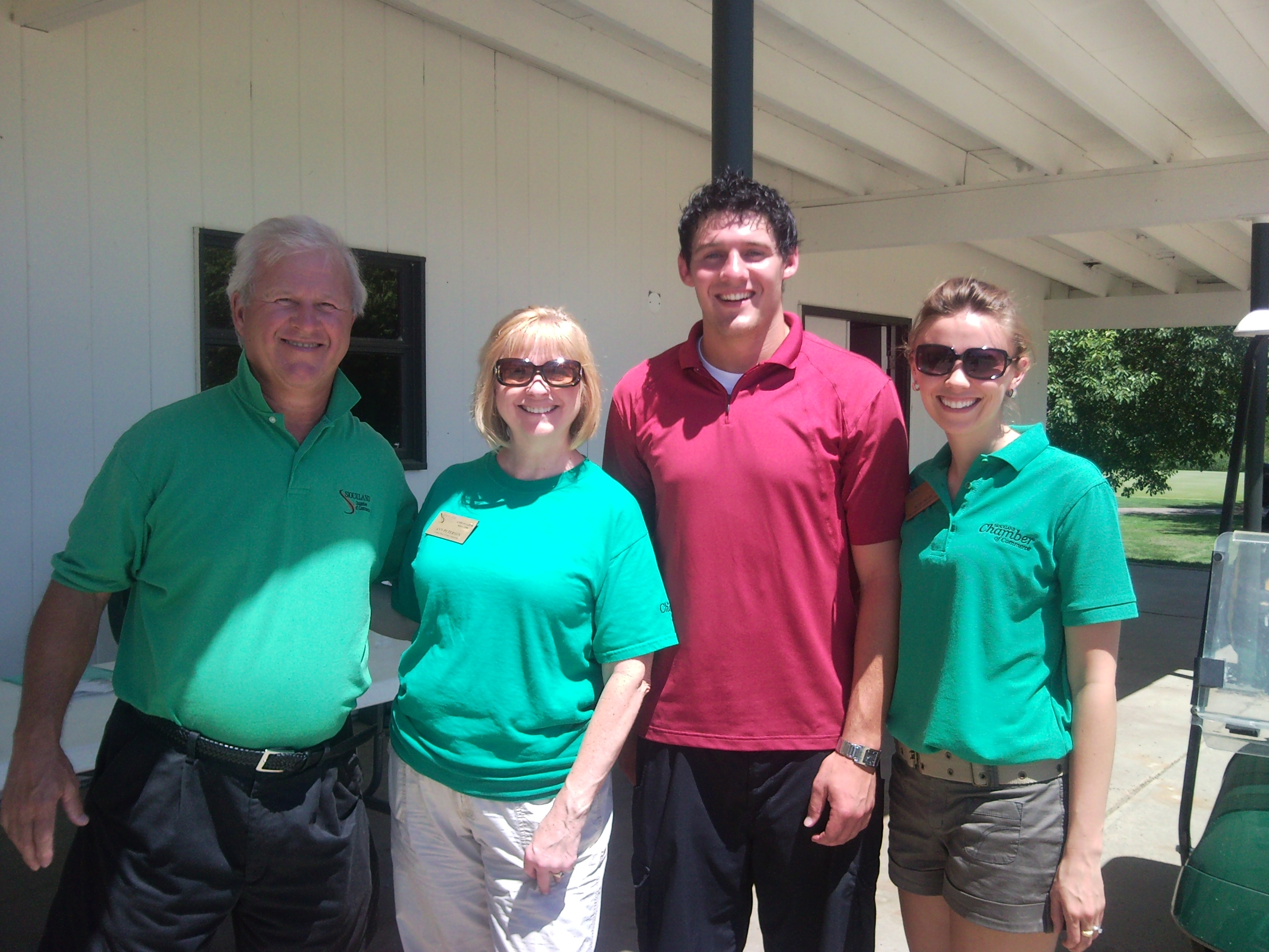 Social Media Intern, Zach Andersen, came out of retirement to help Director of Investor Relations, Beth Trejo, and Chamber Ambassadors at the Golf Classic this past Monday.